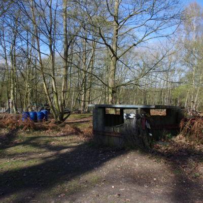 A defensive bunker.