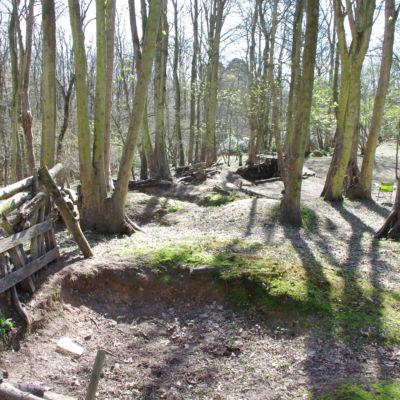 The view across the trenches.