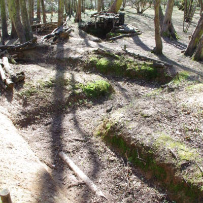 The upper trench.