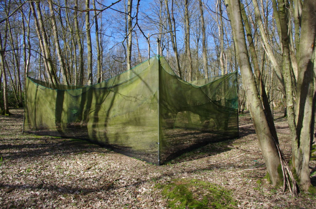 The Trenches - In front of the trenches is a netting safe zone for the paintballers we share the site with. This netting is not hard cover you can be shot through it.
