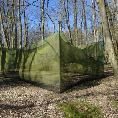 In front of the trenches is a netting safe zone for the paintballers we share the site with. This netting is not hard cover you can be shot through it.