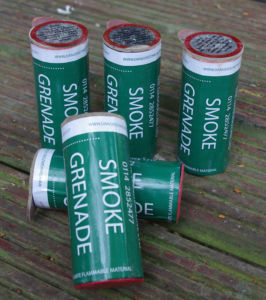 Smoke Grenades stocked in the TB On-Site shop.