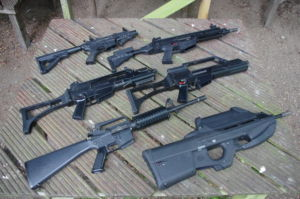 A Selection of Rental Guns available from Tech Brigade