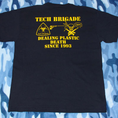 Merchandise T-shirt -  yellow on black - Back