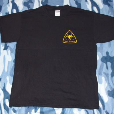 Merchandise T-shirt -  yellow on black - Front