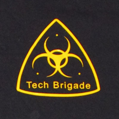 Merchandise T-shirt -  yellow on black - Front detail