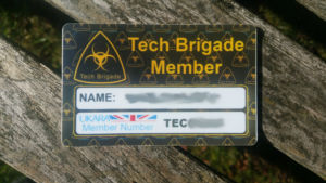 Tech Brigade Membership Card example